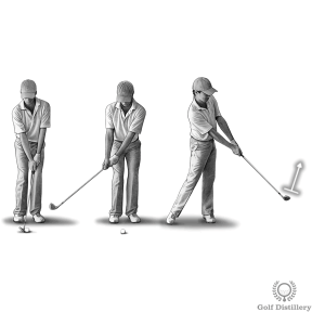 Hook Fix Drill #1 - Start by making short swings and notice how the clubface points up at the follow through