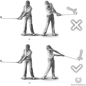 Hook Fix Drill #1 - Make larger practice swings and try to keep your wrists from rolling over during the follow through