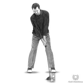 Increase driver distance by placing the ball forward in your stance on a higher than normal tee