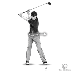 Increase driver distance by aggressively turning your hips on the downswing