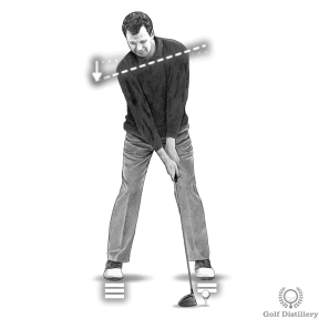 Increase driver distance by tipping your right shoulder down at address