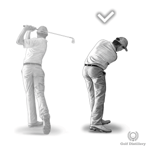 Restrict your follow through when hitting a low shot