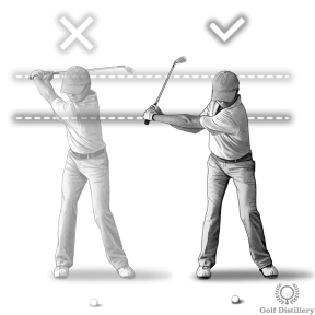 Use a shorter backswing when you hit pitch shots