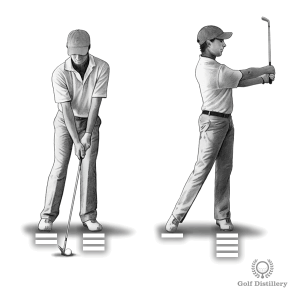 Move and keep your weight forward when hitting pitch shots