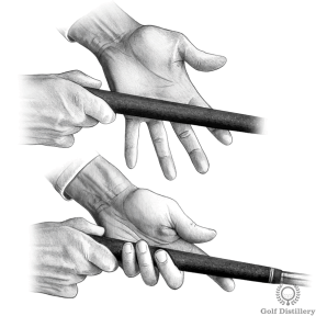 Proper Golf Grip: Place the grip in your fingers