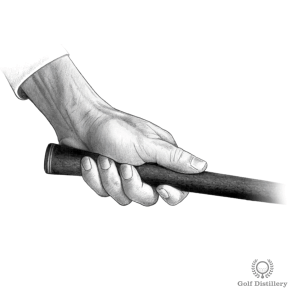 Proper Golf Grip: Place your left hand half an inch down the top of the golf grip