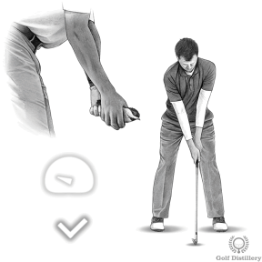 At address, grip the club lightly in your hands