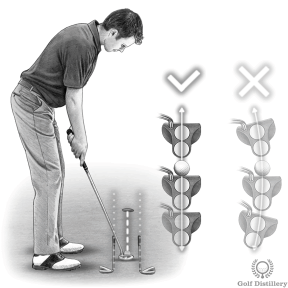 Putting Drill - Try to produce a straight back and through putting stroke