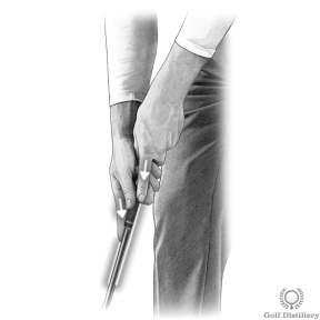 Putting Grip - Point your index fingers straight down the sides of the grip