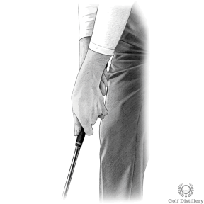 Cross Handed Putting Grip Type