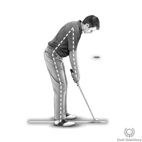 Putting Stance - Let your arms drop down naturally