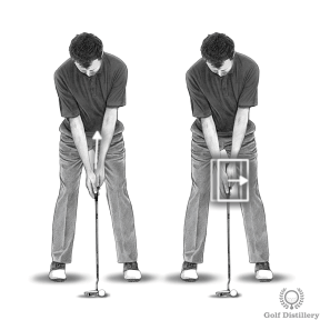 Putting Stance - Press your hands forward a little
