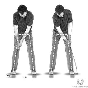Putting Stroke - Keep your lower body still