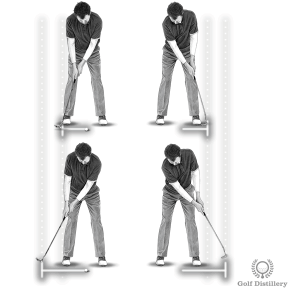 Putting Stroke - Length of the backswing equals length of the follow through