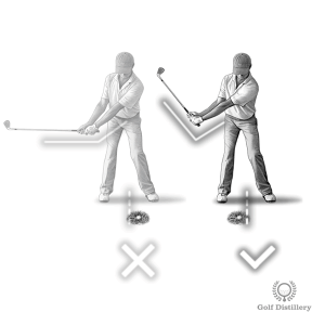 Position the ball back in your stance and use plenty of wrist hinge when the ball is in the rough