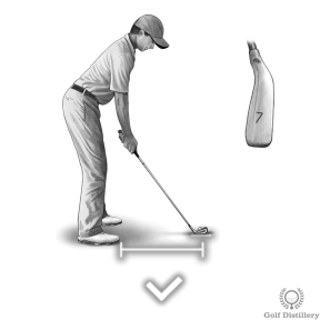 Shank Drill - Take a 7-iron and set up normally with the proper distance from the ball