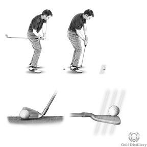 Shank Drill - Swing but try hitting the ball on the toe of the clubface, on purpose