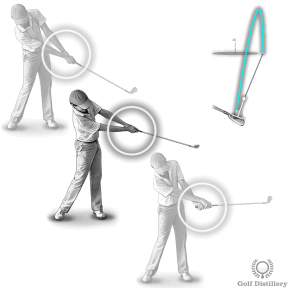 Limit the hand rotation to produce a push shot (in combination with an inside-out swing)