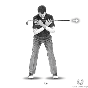 Stand at address and the club (your shoulders) should point directly at the target