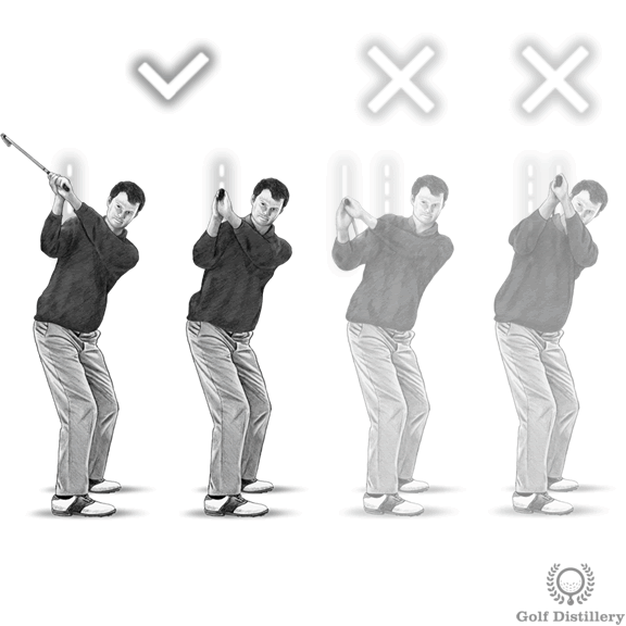 Top of the golf swing drill for the correct position of the club