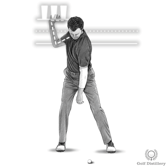 Top of the golf swing drill for the position of the right hand