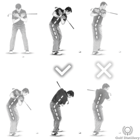 Lifting up during the backswing or the downswing can lead to topped golf shots