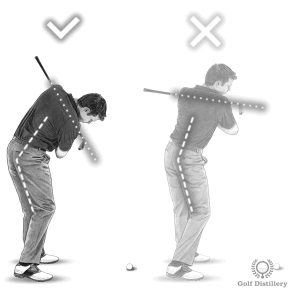 Lifting up during the downswing can lead to topped golf shots