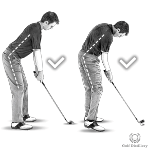 Practice hitting golf shots while focusing on keeping your upper body in the same angle it was a address