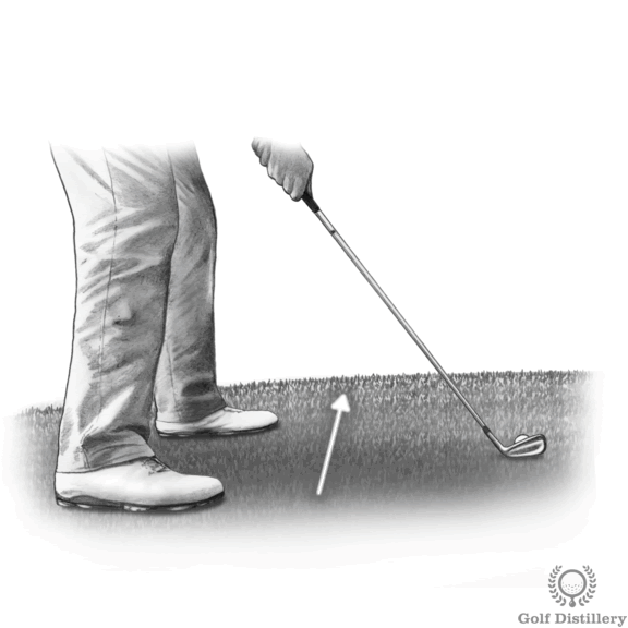 Uphill Golf Lie