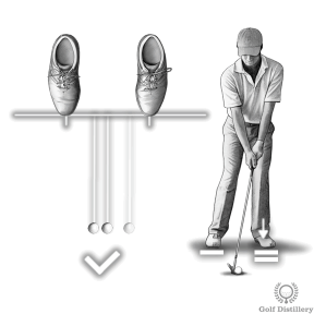 When facing headwind put the ball a little back in your stance and position your weight forward at address